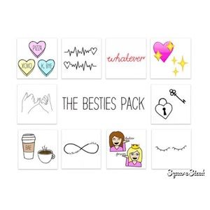 🆕 INKED by Dani Temporary Tattoo's Bestie Pack